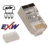EXW RJ45 8/8 CAT6 STP fali/patch csatlakozó